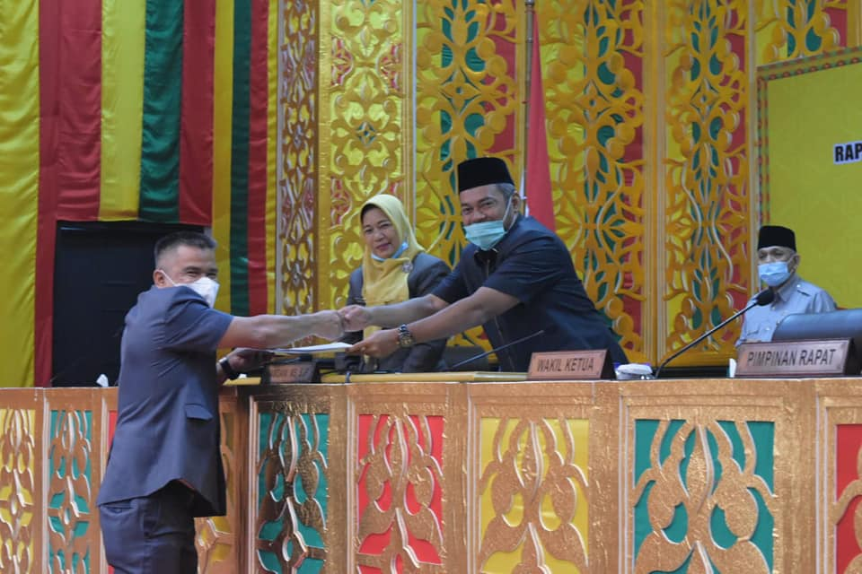 Rapat paripurna Reses  masa sidang Ke I 2020/2021 dibahas DPRD