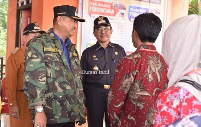 Bupati dan Wabup Inhil Pantau Pelaksanaan Pilkades Serentak Tahun 2019