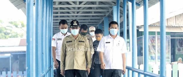 Bupati HM. Wardan Kunker ke Kuala Selat, Tinjau Abrasi