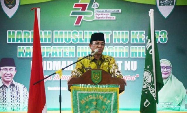 Bupati Inhil Hadiri Peringatan Harlah Muslimat NU ke-73